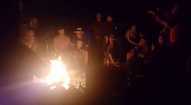 Photo of a campfire at Blue Skies