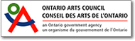 Button image of the Ontario Arts Council logo that links to the Ontario Arts Council website